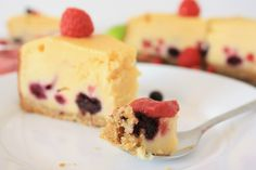 Forest Fruits Cheesecake and Raspberry Curd
