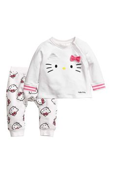 H&M Hello Kitty baby sweatshirt and joggers.  #afflink