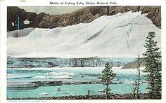 Glacier National Park Glacier at Iceberg Lake MT 1920s