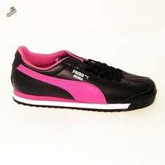 Puma Women's Roma Basic Fashion Sneaker,Black/Raspberry Rose,7 B US - Puma sneakers for women (*Amazon Partner-Link)