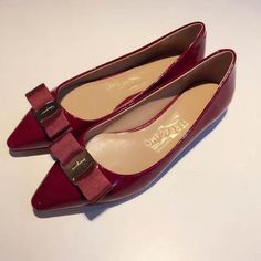 54fc5c4d449ad We sell Ferragamo Emy patent ballerinas flats Wine with the discount  prices