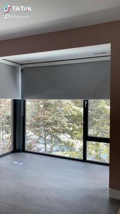Blackout blinds in Toronto Sliding Door Shades, Blinds For Large Windows, Sliding Door Blinds, Blinds For Windows Living Rooms, Modern Window Blind, Blinds, Modern Sliding Doors, Roller Blinds Bedroom, Window Treatments Bedroom
