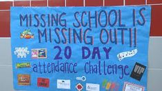 Clinton Middle School uses challenge encouraging students to attend class Attendance Display, Attendance Incentives, Attendance Board, Student Attendance, Attendance Ideas, Attendance Tracker, Middle School Counseling, Elementary School Counselor, School Social Work