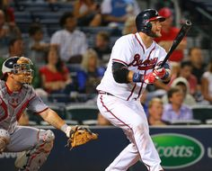 Braves A.J. Pierzynski hits a solo homer, his second of the night, to take a 2-1 lead over the Nationals during the seventh inning in a baseball game on Tuesday, Sept. 29, 2015, in Atlanta. Curtis Compton / ccompton@ajc.com Photo: ccompton@ajc.com