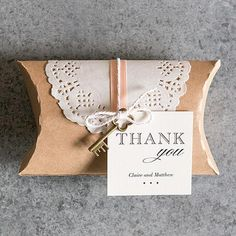 DIY Kraft Pillow Box Favor Wrapping Kit Chocolate Brown - Marry Me Wedding Accessories & Gifts