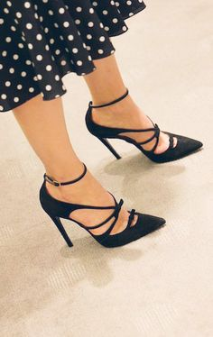 Strappy bow pumps