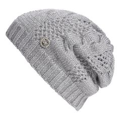 8363cb0a92b MICHAEL Michael Kors Metallic Knit Beanie Grey One Size ( 29) found on  Polyvore Grey