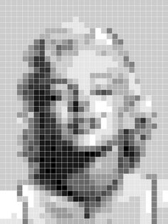Marilyn Monroe perler bead design
