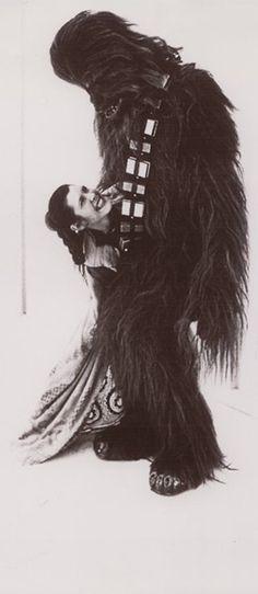 Star Wars behind the scenes - Princess Leia & Chewbacca