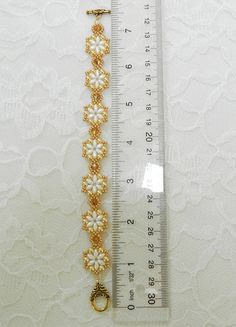 Swarovski Beaded SuperDuo braceletBeaded jewelrySuperDuo