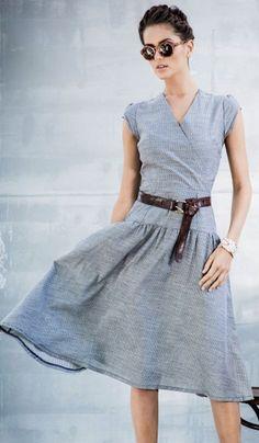 flowing soft denim dress//