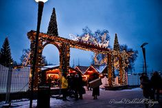 Oslo, entrance to the Christmas market