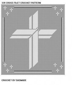 Cross Filet Crochet Doily Afghan Pattern 339 Crochet Home Decor