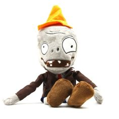 Conehead Zombie Doll Plants vs Zombies Plush Polypropylene Toys for Kids 28cm @ niftywarehouse.com