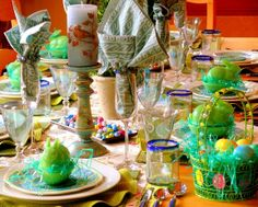 Easter Table Setting #Easter #EasterHam