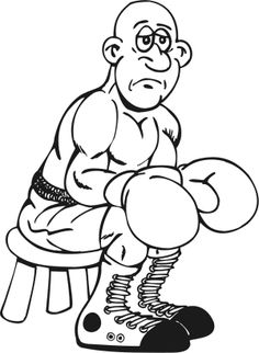 boxer sad coloring page