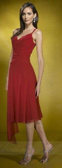 Sheath Bridesmaid Dresses,V-neck Bridesmaid Dresses 04593