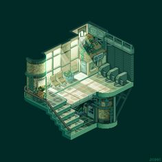 "조각 on Twitter: ""#pixelart #isometric #station halted station 
