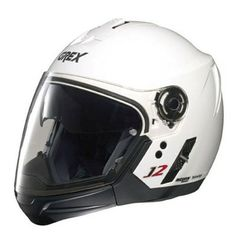 Grex J2 Pro - Kinetic Metal White. Removable chin guard allows it to be approved as both a full-face and open-face helmet