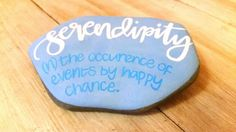 Painted Rocks Serendipity Word Art Word Porn by TheLadySketch