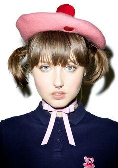Lazy Oaf Messed Up Beret ...all creative types are, bb. This adorable beret…