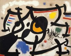 Miro: The Experience of Seeing exhibition page on the Reina Sofia website Miro Artist, Joan Miro Paintings, Seattle Art Museum, Elements And Principles, Abstract Expressionism, Abstract Art, Oil On Canvas, Duke University, Art Camp