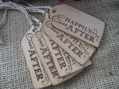 Favor Tags - SET OF 10 Happily Ever After Favor Gift Tags or Bag Tags - Item 1184