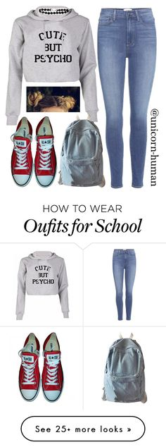 """""""Untitled #2616"""" by unicorn-human on Polyvore featuring Paige Denim, Converse and WithChic"""