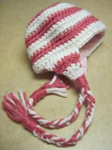 kids winter ear flap crochet hat