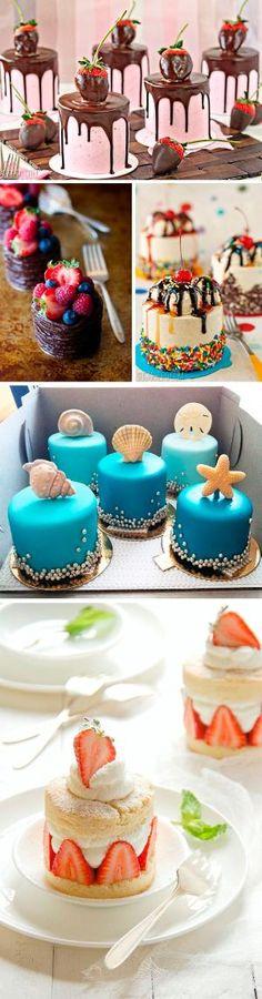 Mini cakes para bodas: Alternativas para los postres de boda: las mini cakes o mini tartas. ¡Toda una delicia para la vista y para el gusto! by DeeDeeBean