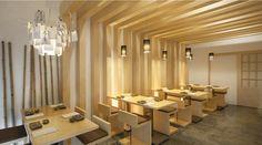 Sushi Pearl by PLAN Associated Architects, Faro Portugal restaurant Design Blog, Cafe Design, House Design, Japanese Restaurant Interior, Restaurant Interior Design, Visual Merchandising, Faro Portugal, Noodle Bar, Asian Restaurants