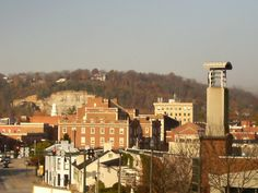 View of down town from the Kentucky Military History Museum. Frankfort Kentucky
