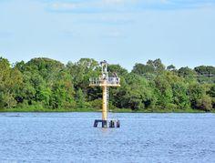Range Marker at the Northeastern Tip of Burlington Island. The ospreys are still around on 2nd September.