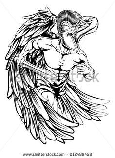 Anjos Tattoo Fotos, imagens e fotografias Stock | Shutterstock