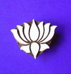 Stylized Lotus Pottery Wood Stamp Hand Carved Fabric Textile Clay Indian Print Block by PrintBlockStamps on Etsy https://www.etsy.com/listing/191697975/stylized-lotus-pottery-wood-stamp-hand