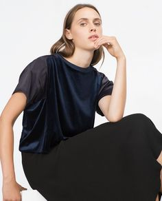 Image 2 of ROUND NECK TOP from Zara