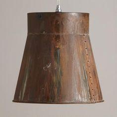 Distressed Metal Bucket Pendant Lamp $72 World Market