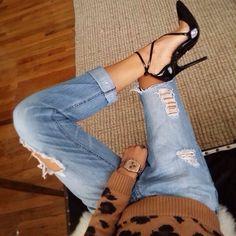 SHOES AND DREAMS | TheyAllHateUs. Leopard, denim, shoes.