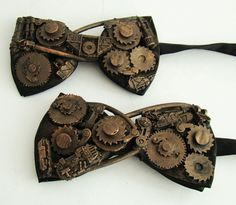 steampunk bow tie     I would wear it in my hair!  :-)