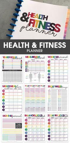 health & fitness planner   printable   organizational printables   weight loss tracker via /moritzdesigns/
