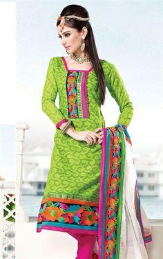 Picture of Delicate Green Color Wedding Salwar Kameez