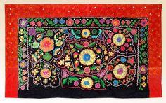 Beautiful RARE Old UZBEK Kyrgyz Hand Embroidered Wall Panel Tush Kiiz A4506 | eBay