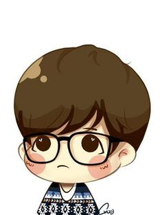 BaekHyun Chibi   This was what I was referring to in my post about baekhyun during his ...