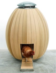 Nogg, by Matthew Hayward and Nadia Turan...hippest chicken coop in the world!