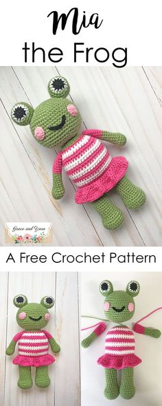 Make your own cuddle sized amigurumi frog! Free crochet pattern great for beginners!