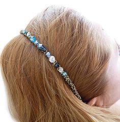 Opaska do włosów z koralikami w Fashion Corner - rękodzieło, biżuteria, dodatki na DaWanda.com