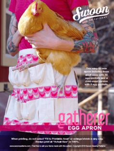 Do you have chickens or know someone who does?  This apron adds a little pizzazz to the gathering process.