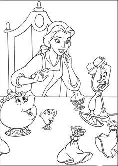 Belle en het Beest Kleurplaten voor kinderen. Kleurplaat en afdrukken tekenen nº 13