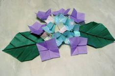 《折り紙・ガクアジサイの作り方》 : 永遠の破片 Origami, Tableware, Crafts, Dinnerware, Manualidades, Tablewares, Origami Paper, Handmade Crafts, Dishes