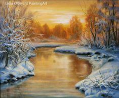 Winter - sunset by Lidia Olbrycht/ Poland